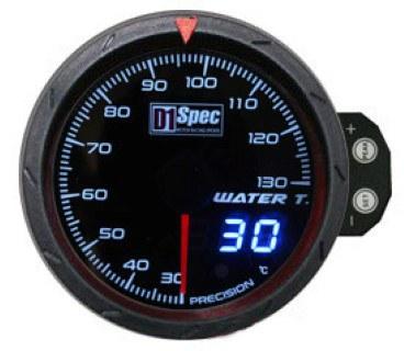 Zegar D1Spec 60mm - Water Temperature - GRUBYGARAGE - Sklep Tuningowy